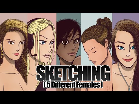 SKETCHING - 5 Girls