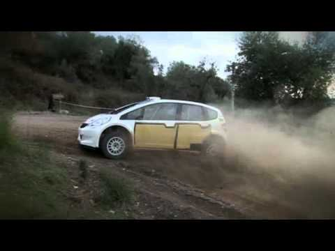 Honda Jazz G2 Rally Car Test Italy