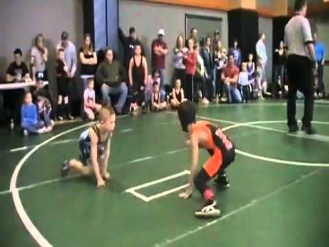 Kid Goes Beast Mode During Wrestling Match