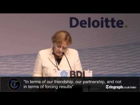German Chancellor Angela Merkel pledges Germany will help Greece