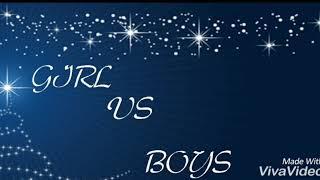 Girls vs boys(children's style)