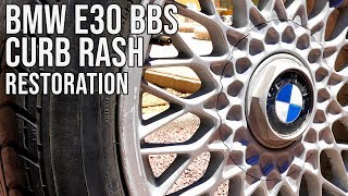 Heavily Curbed BMW E30 BBS Wheels - Full Restoration | BMW E30 325i Sport Restoration S2 E5