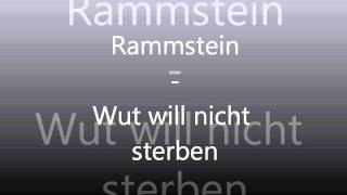 Watch Rammstein Wut Will Nicht Sterben video