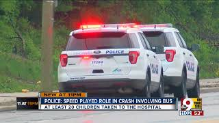 Police: Speed played role in school bus crash