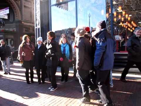Wheeler School Chorus Sings in Downcity Providence