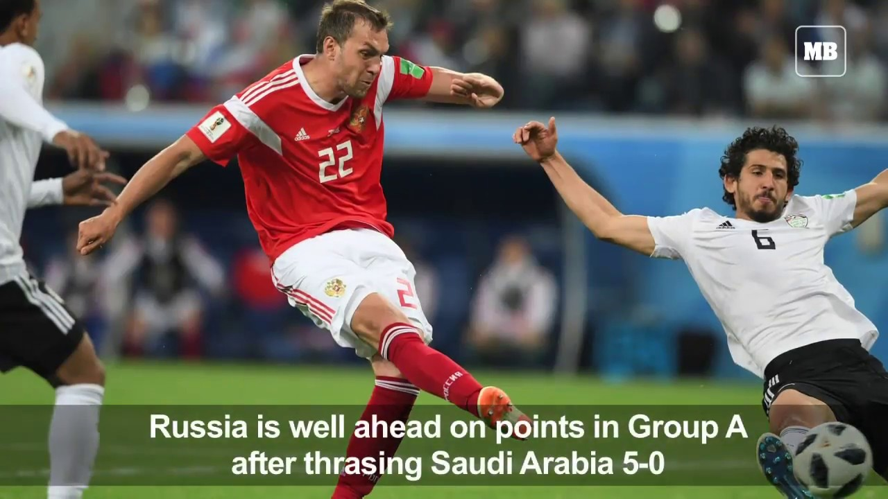 Russia sour Salah's return to close in on last 16