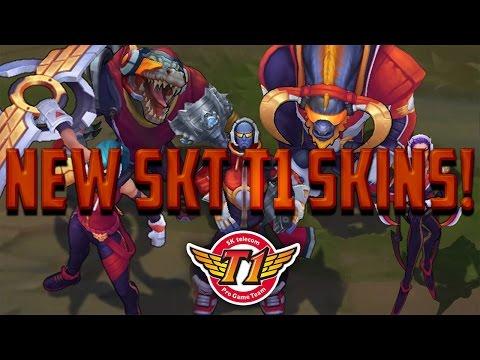 NEW SK TELECOM T1 SKINS! (2015 WORLDS WINNING SKINS)