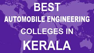Best Automobile Engineering Colleges in Kerala