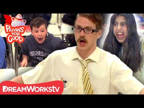 Haunted Classroom | CAPTAIN UNDERPANTS PRANKS FOR GOOD CONTEST Video 1