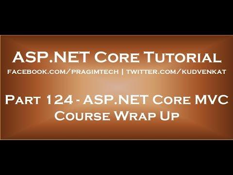 ASP NET Core course wrap up