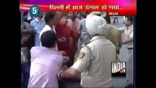 Video-Geelani Heckled By Bhagat Singh Kranti Sena & ABVP Activists In Capital