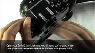 Unloading 35mm film from your Zenit camera