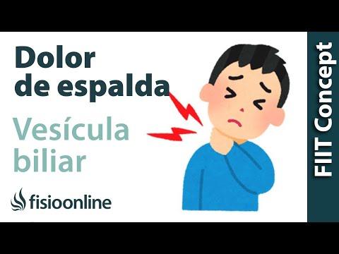 Vesícula biliar y dolor de espalda dorsal y cervical - ¿Qué relación tienen?
