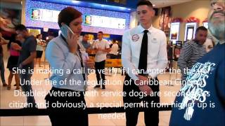 Disabled Veteran with Service Dog Denied Entrance at the movies in Puerto Rico