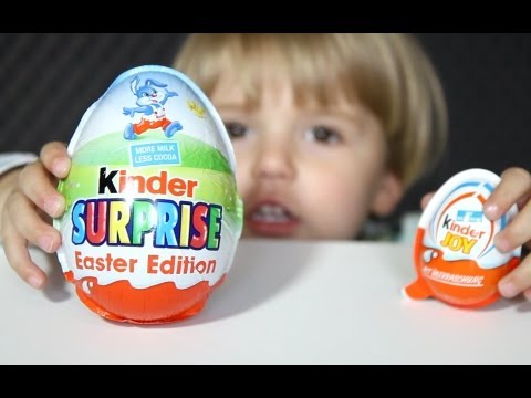 Big Kinder Surprise Egg - Easter Edition and Kinder Joy Egg- Video - Big Surprise