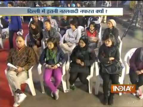 India TV debate on racial attacks against people from Northeast, Part 2