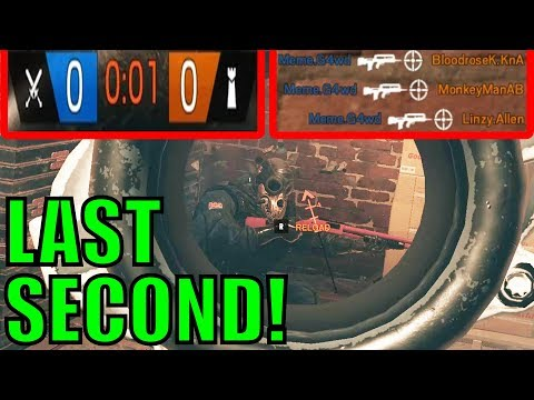 LAST SECOND WIN! - Rainbow Six Siege Gameplay
