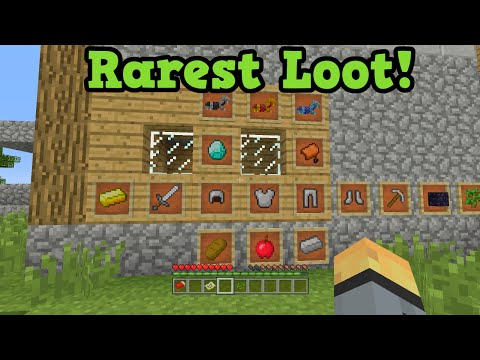 Minecraft Xbox 360 + PS3: RAREST LOOT on a Seed - All Naturally Spawning Loot