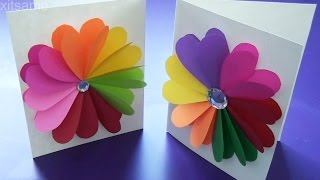 DIY Easy Handmade Greeting Cards - How to Make Paper Cards