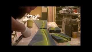 Making a Hollow molded Fiberglass fuse for RC plane.