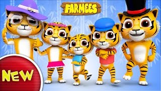 Tiger Finger Family | Tiger Song | Nursery Rhymes | Kids Songs With Farmees | Baby Rhymes