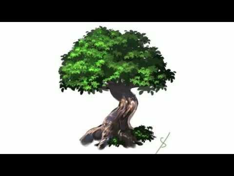 分で分かる木の描き方 ... : 色 絵の具 : すべての講義