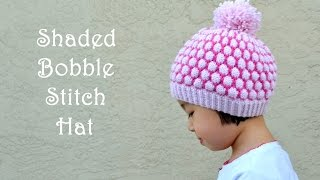 How to Knit Shaded Bobble Stitch or Blister Stitch
