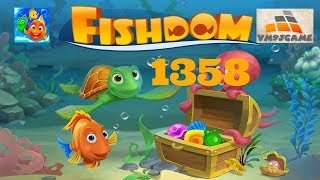 Fishdom Super Hard Level 1358 Gameplay (iOS Android)