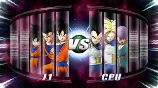 Dragon Ball: Raging Blast 2 Goku & Gohan & Goten vs Vegeta & Trunks & Kid Trunks