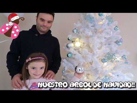 Montando el arbol de navidad con mi padre y decorando la casa - Belen de Navidad de Pinypon