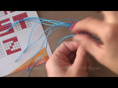 Como hacer pulsera con nombre [facil] // pulsera de hilo