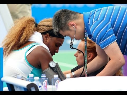 Alize Cornet Beat Serena Williams | Serena Williams vs Alize Cornet | Serena Falls Ill and withdraw