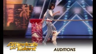 Even Simon Cowell LOVES Cats After Watching This!   America's Got Talent 2018
