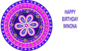 Winona   Indian Designs - Happy Birthday