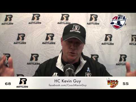 7-26-15; Coach Kevin Guy Post Game, Arizona Rattlers Vs. LA KISS