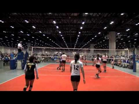 Morganne Longoria D/S- Libero- Sting 16 Gold- Volleyball Highlights- Season Final