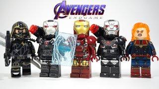 Avengers Endgame Iron Man Shield War Machine Captain Marvel Hawkeye Thor Unofficial Lego Minifigures