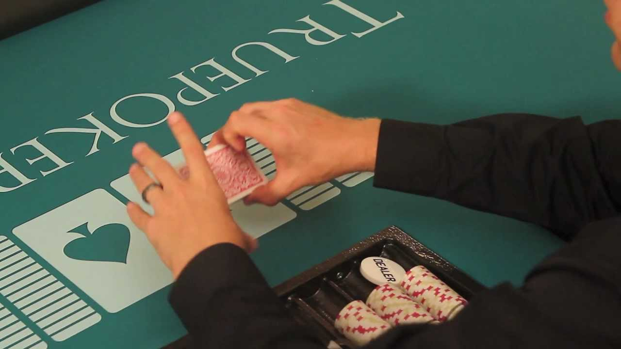how to poker shuffle cards