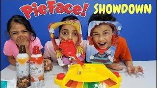 Funny Kids -  Pie Face Showdown Challenge I! Family Fun Game - amy Calder