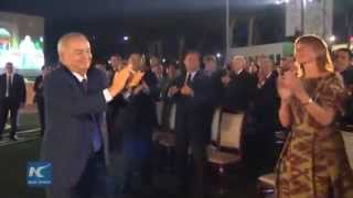 RAW: Uzbek president dances with guests at int'l music fest 'Sharq Taronalari'