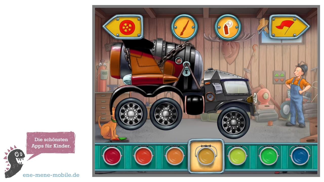 Mulle Mecks Autos Kinderapp: mit dem eigenen Gefährt durch die ...