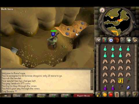Runescape 2007 Bronze Dragon Slayer Guide