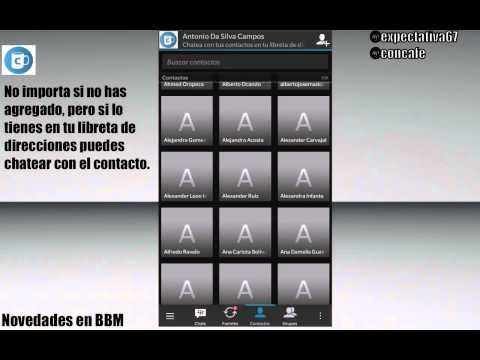 BBM · Chatea con un contacto que no has aceptado previamente