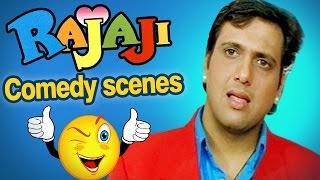 All comedy scenes of RAJAJI - Govinda, Raveena Tandon - Superhit Comedy Movie