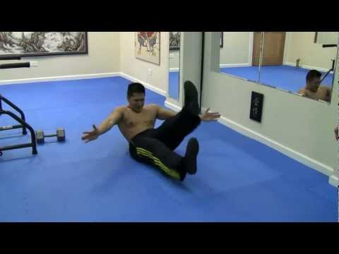 Sifu: 30 lb Dumbbell Knee Raises - L Kick Out - Obliques - Sit ups - Crunches