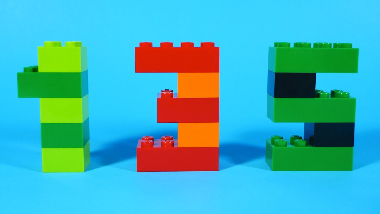 How To Build Lego Numbers 0 9 4630 Lego 174 Build Amp Play