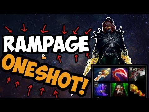 Oneshot & RAMPAGE! +RAGE| Dota 2
