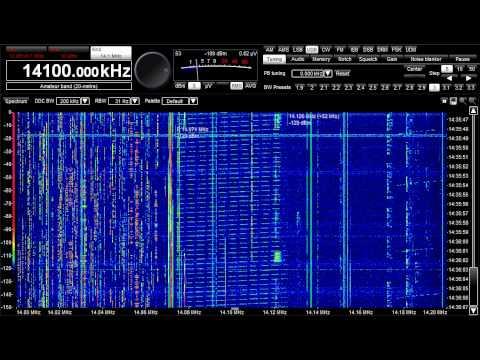 Radar, CODAR in 20M ham band, May 27, 2012, 1436 UTC