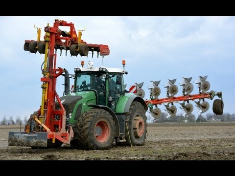 Ploughing and soil preparation in one pass with a Fendt 936 Vario with Kverneland 7 furrow LO 100