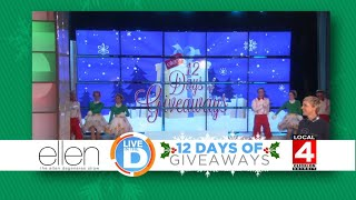"""A chance to win tickets to Ellen's """"12 Days of Giveaways"""" on Local 4"""